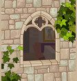 medieval window vector image
