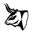 monochrome decorative head of bull with horns up vector image