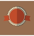 New red vintage badge vector image