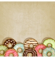 retro background with donut vector image