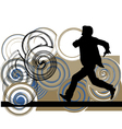 Runner in action vector image vector image