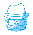 glasses and hat icon vector image
