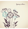 Spring dandelion flowers - background vector image