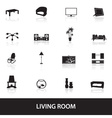 living room icons eps10 vector image vector image