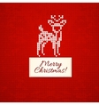 Christmas knitting background with christmas deer vector image vector image