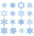 Big set Snowflake Flake of snow vector image