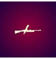 machine gun icon concept for vector image