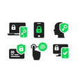 authentication icons set 02 vector image