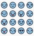 Emoticons faces set vector image