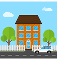 house and car vector image