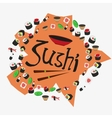 sushi set delicious Japanese food rolls vector image
