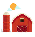 isolated barn house on white background vector image