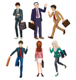 Business-minded people vector image