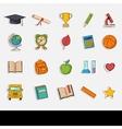 Doodle school icons set vector image vector image