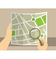 Search on map vector image vector image
