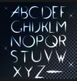 ABC light font letter design vector image