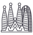 barcelonasagrada familia line icon sign vector image