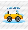 car wash service design vector image