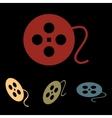 Film circular icon set vector image