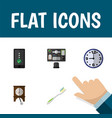 flat icon lifestyle set of cellphone dental vector image
