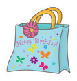 gift bag vector image