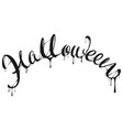 halloween black letter text for greeting card vector image