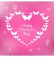 Heart of butterflies Valentines Card vector image