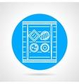 Sushi blue round icon vector image