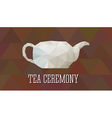 Teapot in polygonal design Abstract triangle style vector image