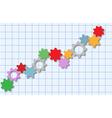 Technology gears tech business graph vector image
