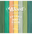 Wood realistic colorful texture design vector image