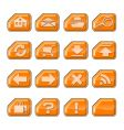 web icons a orange vector image vector image