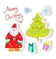 fun christmas icons vector image vector image