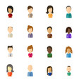 minimalistic flat user icons with large head - vector image