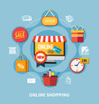 ecommerce colored composition vector image