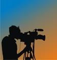 Cameraman Silhouette vector image
