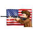 USA hunter vector image vector image