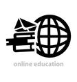 black education logo vector image vector image