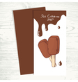 Cafe menu template with hand drawn chocolate ice vector image