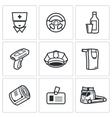 Drunken driving icons set vector image