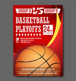basketball poster design for sport bar vector image