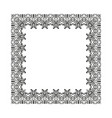 frame of decorative ornament silhouette on white vector image