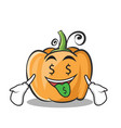 money mouth pumpkin character cartoon style vector image