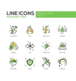 Monsters Sypes - line design icons set vector image