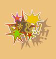 paper sticker on theme comic speech bubbles set vector image