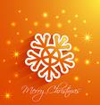snowflake Merry Christmas card vector image