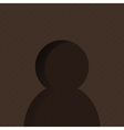 User Icon dark vector image