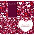 Cute Valentine heart set of congratulation cards vector image
