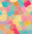 Paint stains green yellow and pink vector image