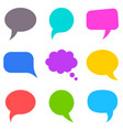 Colorful speech bubbles collection vector image